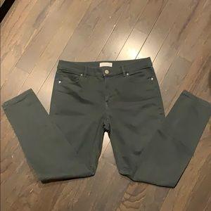 LOFT Modern Skinny Jeans Green 29